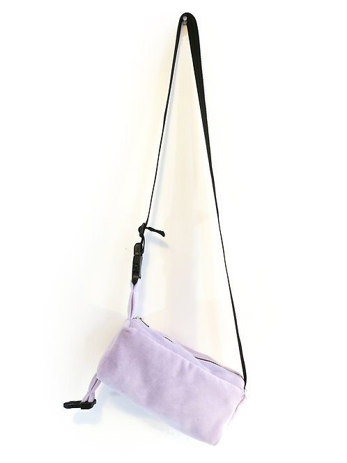 PLUSH LAVENDER CROSSBODY POUCH