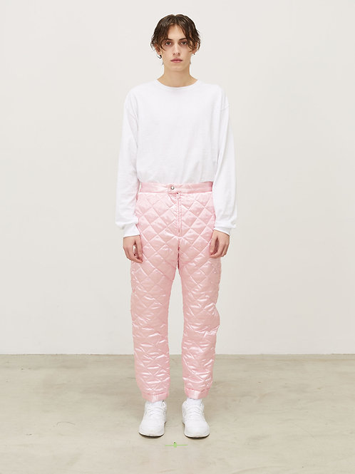 MENS QUILTED TRACK PANT WITH SNAP CUFF