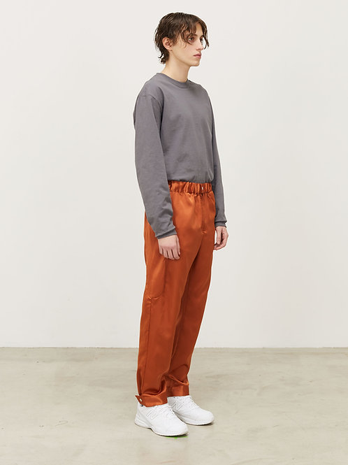 MENS SILKY TRACK PANT WITH SNAP CUFF