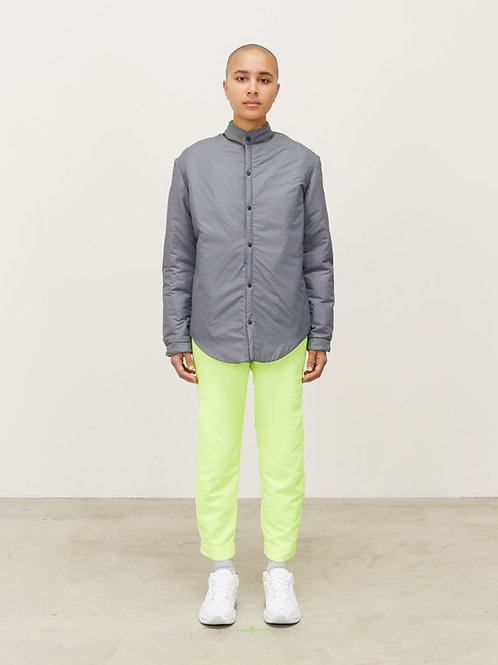 REVERSIBLE MOCK NECK INSULATED SNAP FRONT JACKET