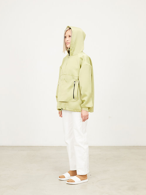 PACKABLE DOUBLE FACE SATIN ANORAK
