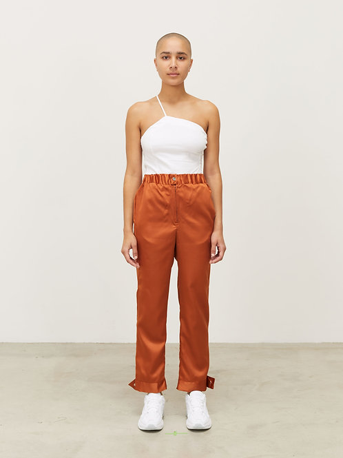 WOMENS SILKY TRACK PANT WITH SNAP CUFF