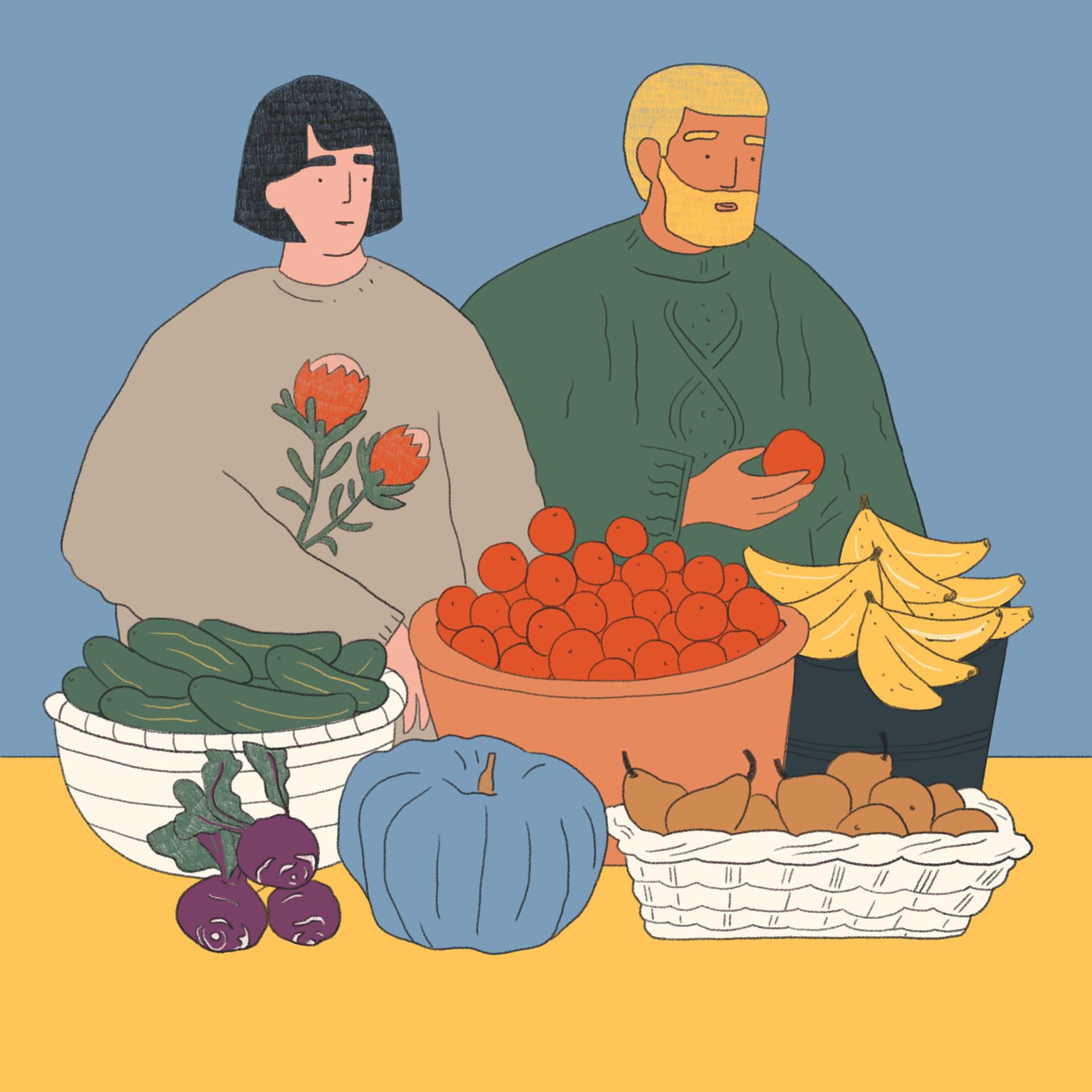 Organic Vegetables Market Illustrations