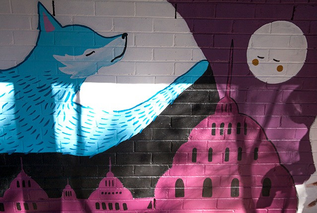 Wilkins Primary Library Mural