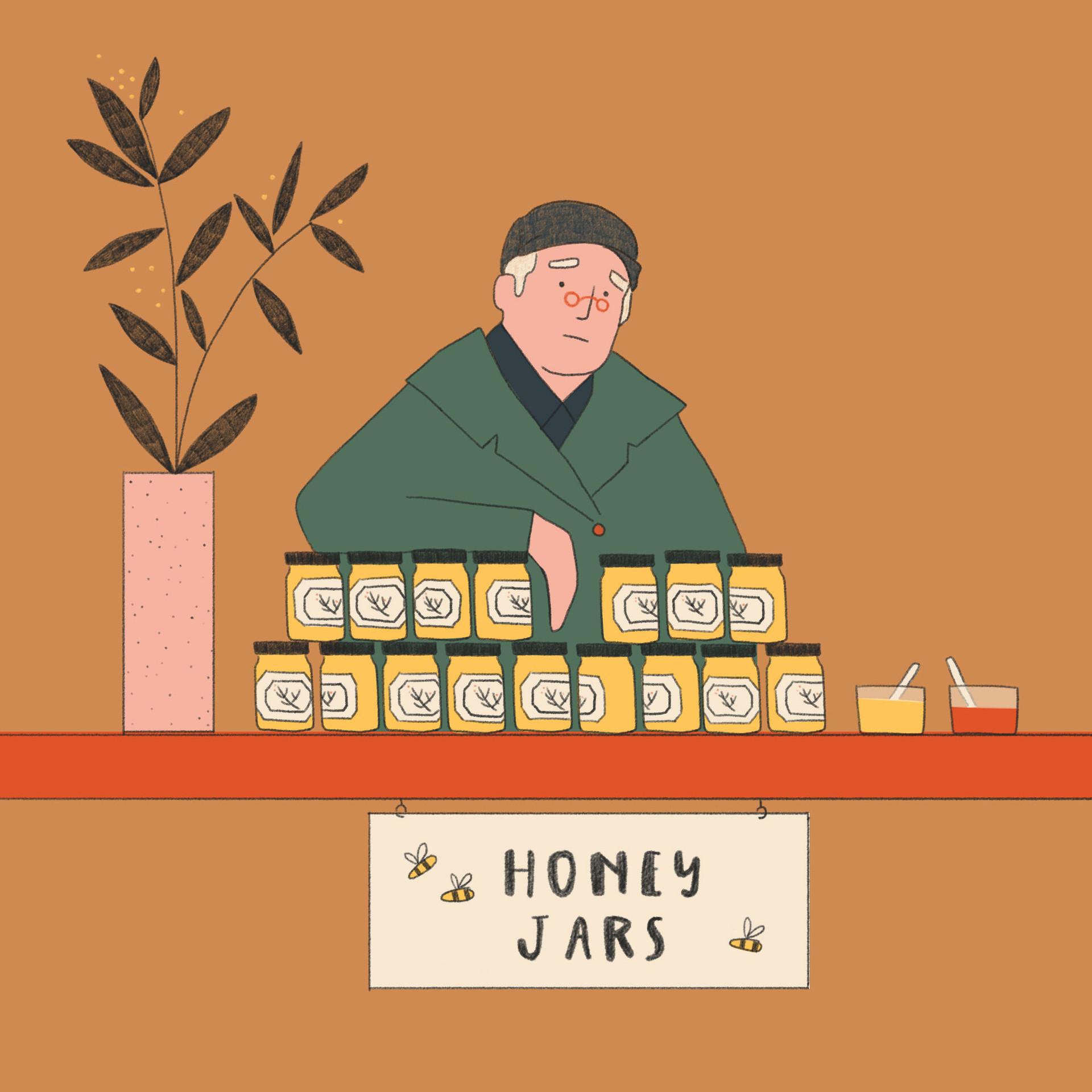 Local Honey Market Illustrations