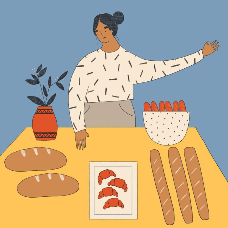 Fresh Bread Market Illustrations