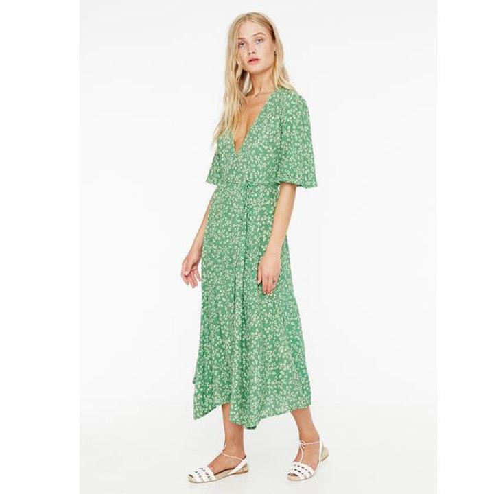 a00275da7134 Faithfull The Brand Rivera Midi Dress in Violette Green Floral