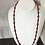Thumbnail: Sautoir en agate rouge, onyx et hématite