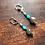 Thumbnail: Boucles d'oreilles en labradorite et cristal