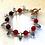 Thumbnail: Bracelet agate rouge et cristal