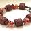 Thumbnail: Bracelet pierre de lave et cornaline