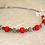 Thumbnail: Collier collection Lola améthyste et bois rouge