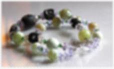Bracelet double en agate feu et cristal