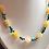 Thumbnail: Collier en Jade jaune,Turquoise et hématite dorée