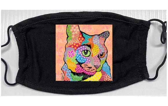 Zoe Cat Pop Art Mask by April Minech