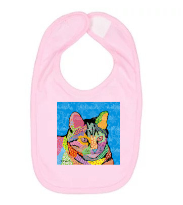 Merlin Cat Pop Art Bib by April Minech