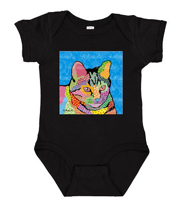 Merlin Cat Pop Art Onesie by April Minech