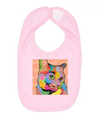 Zoe Cat Pop Art Bib by April Minech