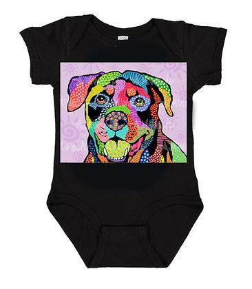 Dog Pop Art Onesie (Breeds L - R) by April Minech