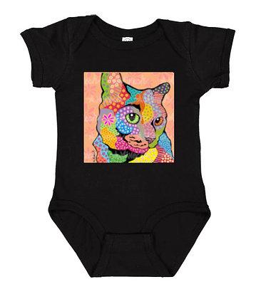 Zoe Cat Pop Art Onesie by April Minech