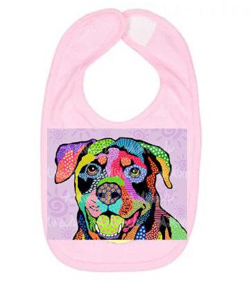 Dog Pop Art Bib (Breeds L - R) by April Minech