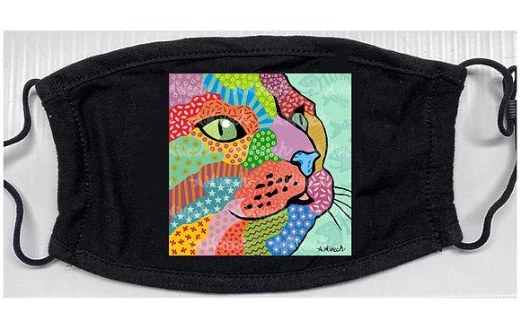Cat Twerp Pop Art Mask by April Minech