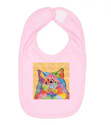 Cat Gigi Pop Art Bib by April Minech