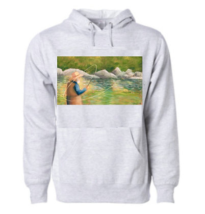 Fly Fisherman Hoodie by Madeline Sexton
