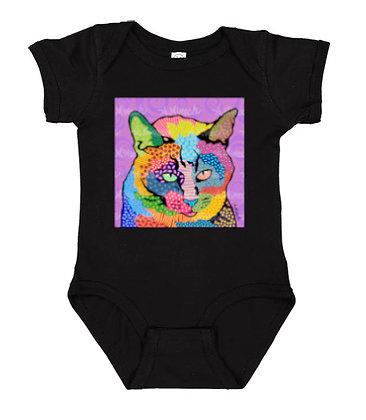 Cat Squeaker Pop Art Onesie by April Minech