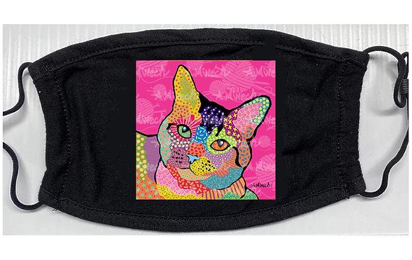 Dolly Cat Pop Art Mask by April Minech