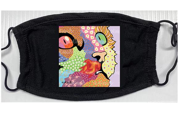 Cat Face Pop Art Mask by April Minech