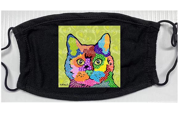 KateB Cat Pop Art Mask by April Minech