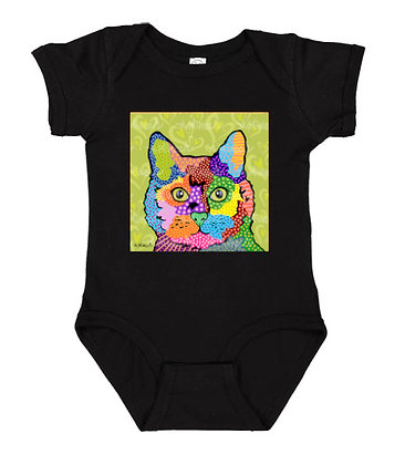 KateB Cat Pop Art Onesie by April Minech