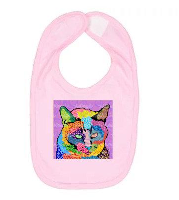 Cat Squeaker Pop Art Bib by April Minech