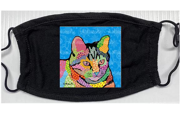 Merlin Cat Pop Art Mask by April Minech
