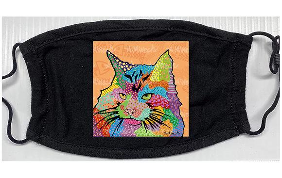 Kitty Adam Cat Pop Art Mask by April Minech