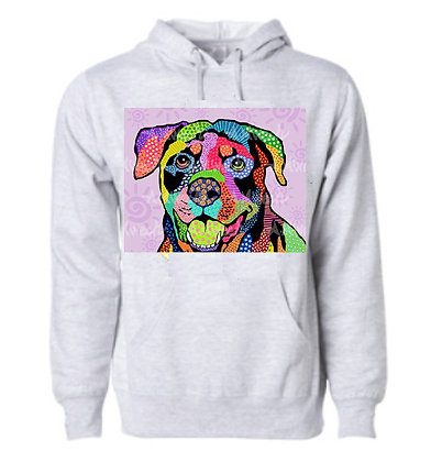 Dog Pop Art Hoodie (Breeds L - R) by April Minech