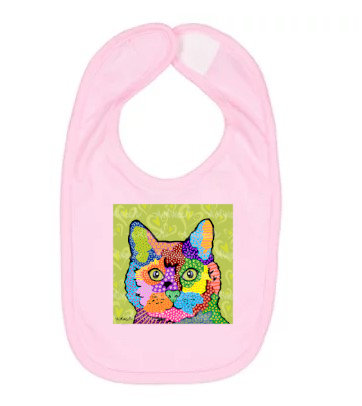 KateB Cat Pop Art Bib by April Minech