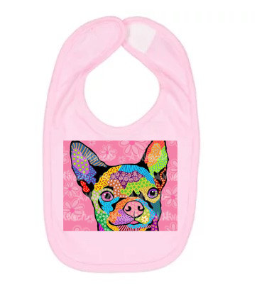 Dog Pop Art Bib (Breeds D-F) by April Minech