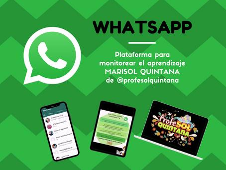 Whatsapp, como plataforma para monitorear aprendizaje