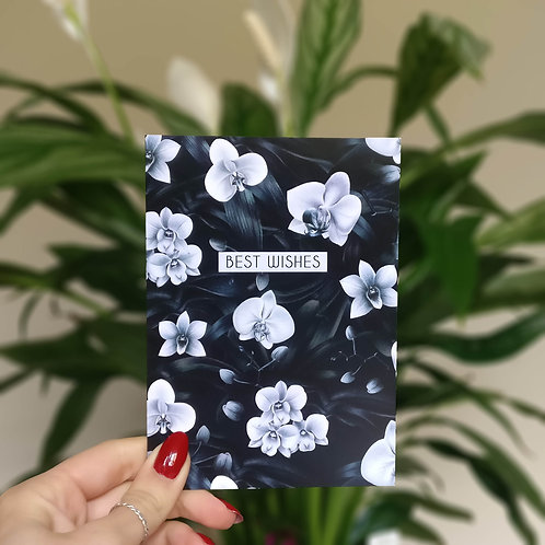 Dark Orchid Greetings Card