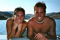 Shawn Natalie Marti Boating Skiing