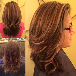 Mimi came in today needing lots of TLC on her hair