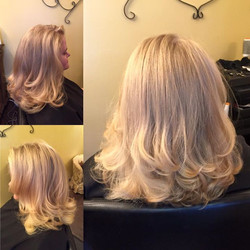 My sweet, fun, crazy friend Channing came in Saturday needing a good trim! I cut off about 5 inches,