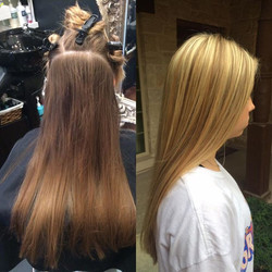 Awesome color change today for this young lady that had a day of a total makeover..