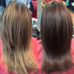 Color transformation from yesterday with my friend Randa.jpgShe started coming to me about a year an