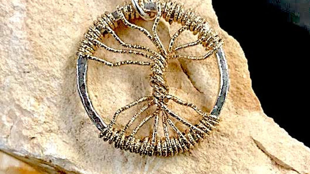Fine Silver and 14k gold-filled Tree of Life pendant
