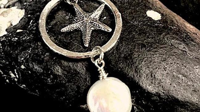 Fine silver, sterling silver, pearl pendant