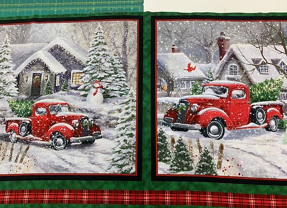 Christmas Red Truck | Panel
