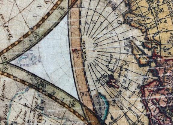 "World Globe | 108"" Fabric"